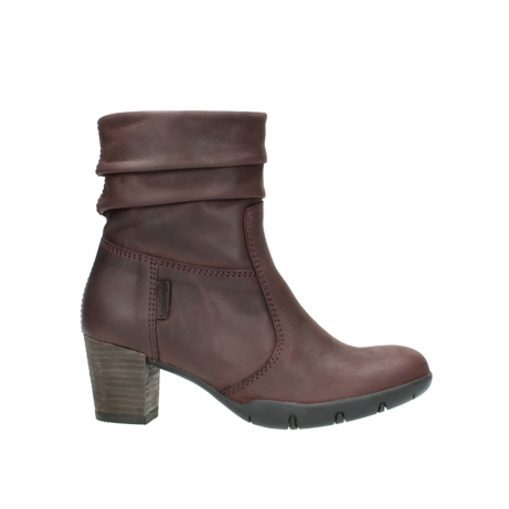 wolky mid calf boots 03676 colville 50510 burgundy oiled leather