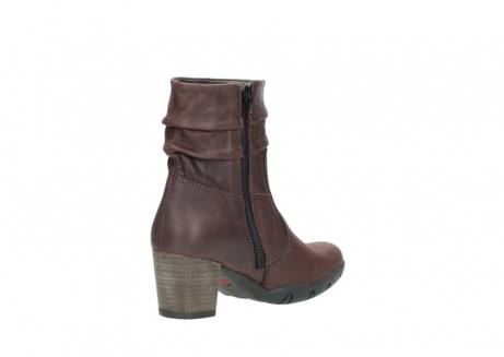 wolky mid calf boots 03676 colville 50510 burgundy oiled leather_10