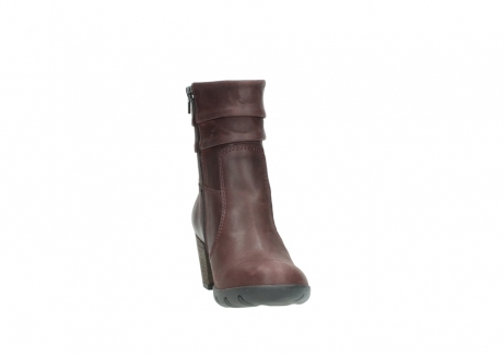 wolky mid calf boots 03676 colville 50510 burgundy oiled leather_18