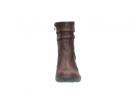 wolky mid calf boots 03676 colville 50510 burgundy oiled leather_19
