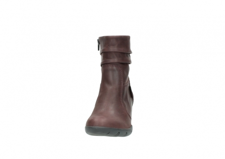 wolky mid calf boots 03676 colville 50510 burgundy oiled leather_20