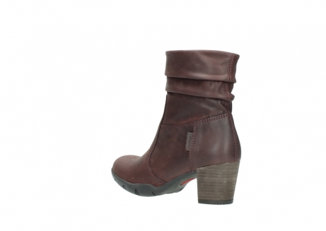 wolky mid calf boots 03676 colville 50510 burgundy oiled leather_4