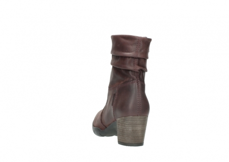 wolky mid calf boots 03676 colville 50510 burgundy oiled leather_6