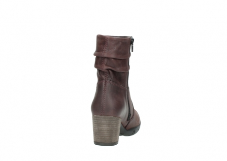 wolky mid calf boots 03676 colville 50510 burgundy oiled leather_8