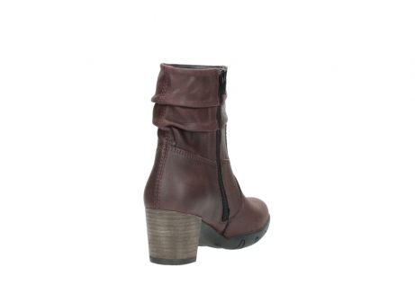 wolky mid calf boots 03676 colville 50510 burgundy oiled leather_9