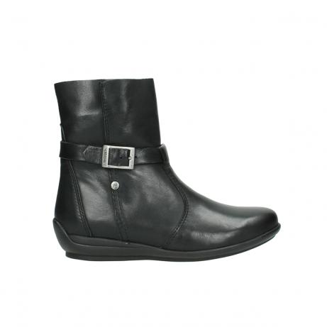 wolky halfhoge laarzen 0381 solano 200 zwart leer