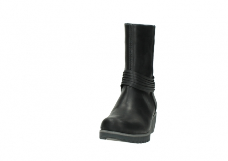 wolky mid calf boots 03822 angel 50002 black leather_20