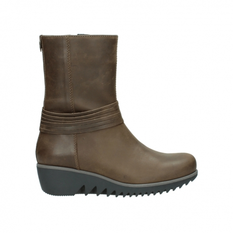 wolky bottes mi hautes 03822 angel 50152 cuir taupe