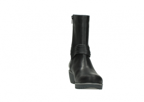 wolky mid calf boots 03823 angel cw 50002 black leather_18