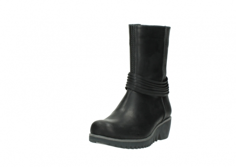wolky mid calf boots 03823 angel cw 50002 black leather_21