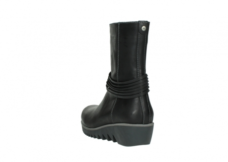 wolky mid calf boots 03823 angel cw 50002 black leather_5