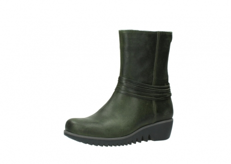 wolky mid calf boots 03823 angel cw 50732 forestgreen leather_23