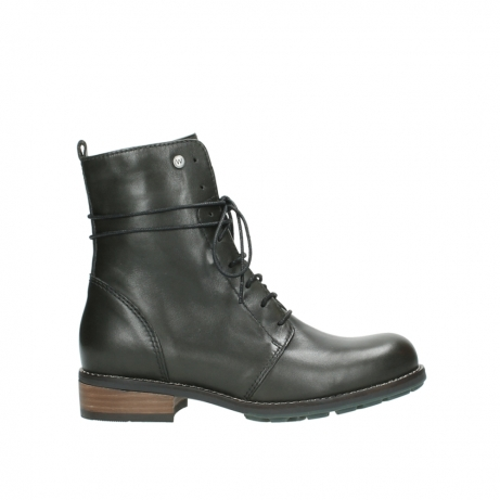wolky bottes mi hautes 04432 murray 20730 cuir vert