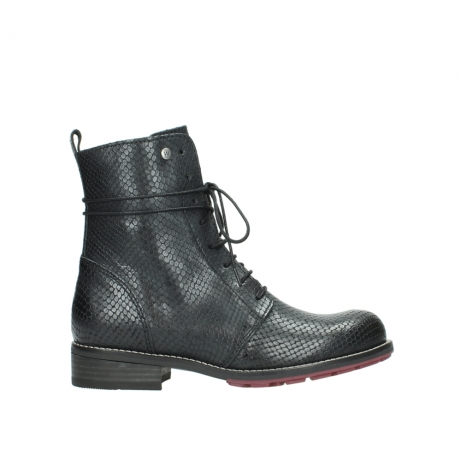 wolky mid calf boots 04432 murray 30000 black leather