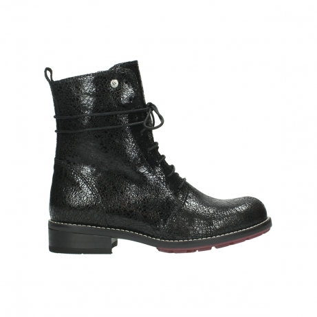 wolky mid calf boots 04432 murray 90000 black craquele leather