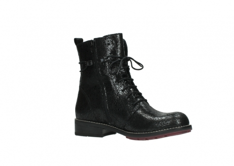 wolky mid calf boots 04432 murray 90000 black craquele leather_15