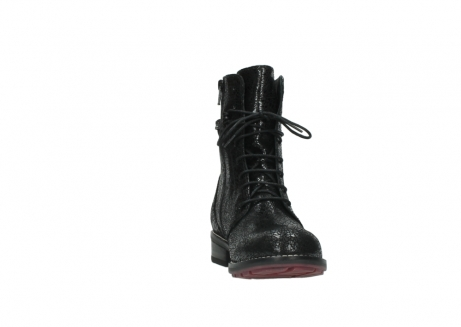 wolky mid calf boots 04432 murray 90000 black craquele leather_18