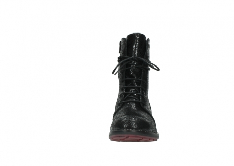wolky mid calf boots 04432 murray 90000 black craquele leather_19