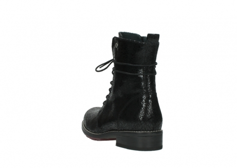 wolky mid calf boots 04432 murray 90000 black craquele leather_5