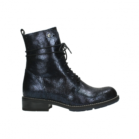 wolky mid calf boots 04432 murray 90800 dark blue craquele leather