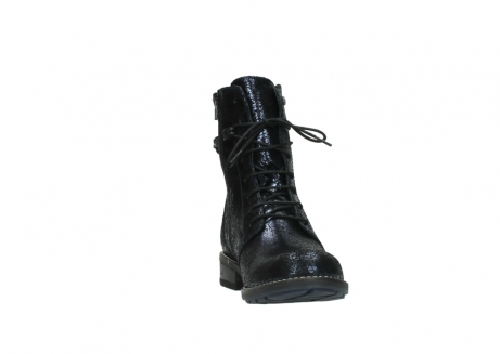wolky mid calf boots 04432 murray 90800 dark blue craquele leather_18