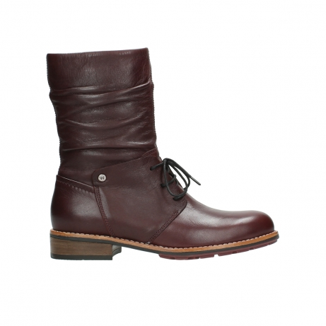 wolky mid calf boots 04437 crystal 20510 burgundy leather