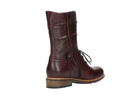 wolky mid calf boots 04437 crystal 20510 burgundy leather_10