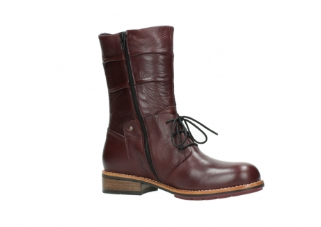 wolky mid calf boots 04437 crystal 20510 burgundy leather_15