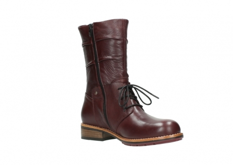 wolky mid calf boots 04437 crystal 20510 burgundy leather_16
