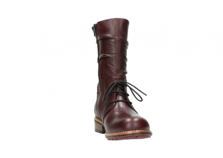 wolky mid calf boots 04437 crystal 20510 burgundy leather_18