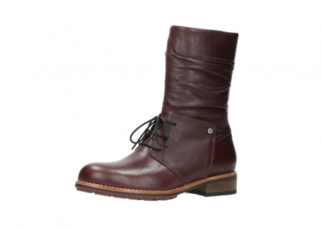 wolky mid calf boots 04437 crystal 20510 burgundy leather_23