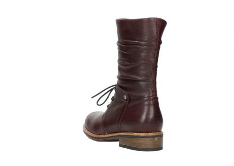 wolky mid calf boots 04437 crystal 20510 burgundy leather_5