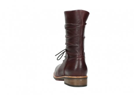 wolky mid calf boots 04437 crystal 20510 burgundy leather_6