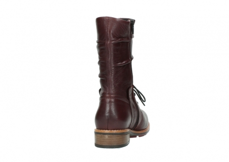 wolky mid calf boots 04437 crystal 20510 burgundy leather_8