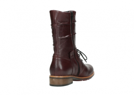 wolky mid calf boots 04437 crystal 20510 burgundy leather_9