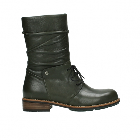 wolky mid calf boots 04437 crystal 20730 forest green leather