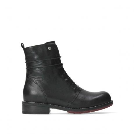 wolky halfhoge laarzen 04438 murray cw 20000 zwart leer cold winter vachtvoering