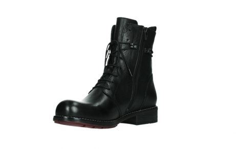 wolky mid calf boots 04438 murray cw 20000 black leather cold winter warm lining_10
