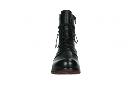 wolky mid calf boots 04438 murray cw 20000 black leather cold winter warm lining_7
