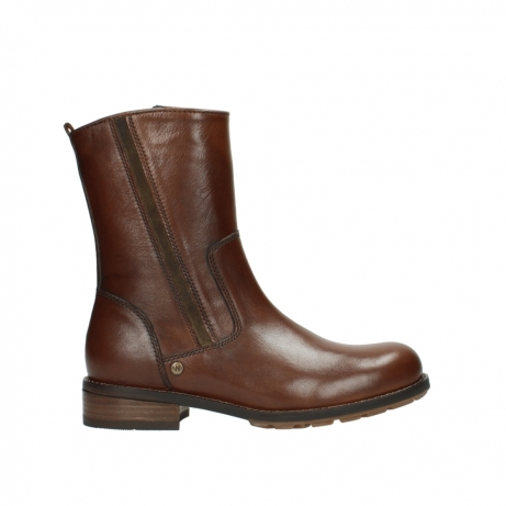wolky mid calf boots 04441 russell 20430 cognac leather