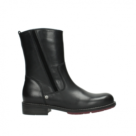 wolky mid calf boots 04442 russell cw 20000 black leather cold winter warm lining
