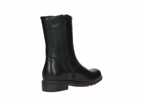 wolky mid calf boots 04442 russell cw 20000 black leather cold winter warm lining_10