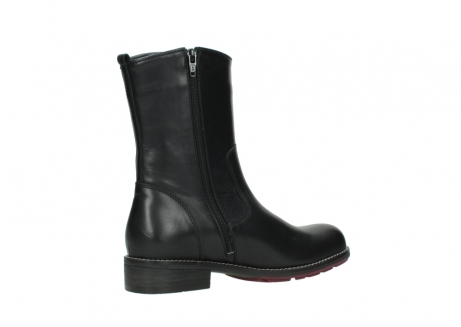 wolky mid calf boots 04442 russell cw 20000 black leather cold winter warm lining_11