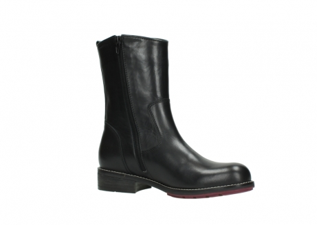 wolky mid calf boots 04442 russell cw 20000 black leather cold winter warm lining_15