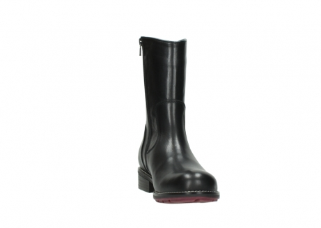 wolky mid calf boots 04442 russell cw 20000 black leather cold winter warm lining_18
