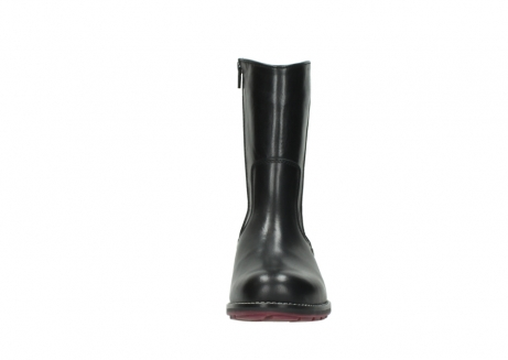 wolky mid calf boots 04442 russell cw 20000 black leather cold winter warm lining_19
