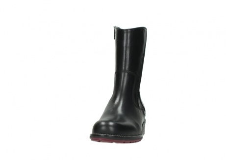 wolky mid calf boots 04442 russell cw 20000 black leather cold winter warm lining_20
