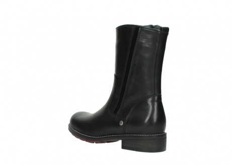 wolky mid calf boots 04442 russell cw 20000 black leather cold winter warm lining_4