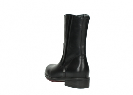 wolky mid calf boots 04442 russell cw 20000 black leather cold winter warm lining_5