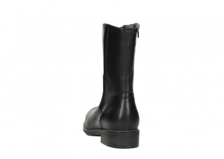 wolky mid calf boots 04442 russell cw 20000 black leather cold winter warm lining_6